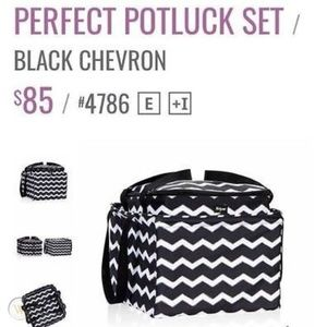 Thirty One Perfect Potluck Set Sketchy Dot Plaid